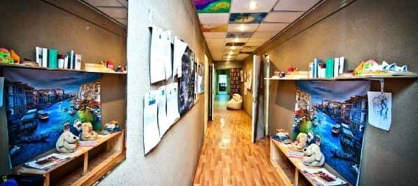 ремонт в коридоре хостела