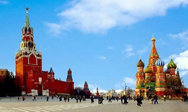 Небо над Красной площадью