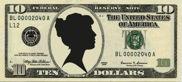 10 долларов женщина