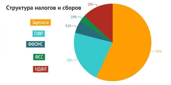 структура налоговой нагрузки на работника в России