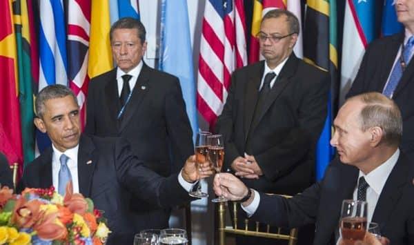 Путин и Обама ООН
