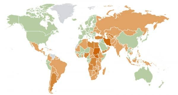 Инфляция по странам мира 2018
